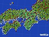 2021年03月01日の近畿地方のアメダス(日照時間)