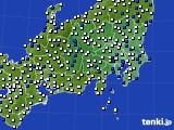 関東・甲信地方のアメダス実況(風向・風速)(2021年03月01日)