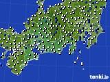 東海地方のアメダス実況(風向・風速)(2021年03月01日)