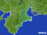 三重県のアメダス実況(降水量)(2021年03月02日)