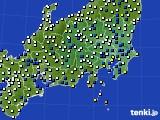 関東・甲信地方のアメダス実況(風向・風速)(2021年03月02日)