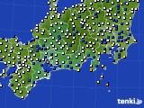 東海地方のアメダス実況(風向・風速)(2021年03月02日)