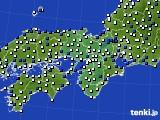 2021年03月02日の近畿地方のアメダス(風向・風速)