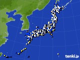 2021年03月02日のアメダス(風向・風速)