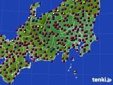 関東・甲信地方のアメダス実況(日照時間)(2021年03月03日)