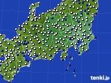 関東・甲信地方のアメダス実況(風向・風速)(2021年03月03日)