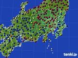 2021年03月04日の関東・甲信地方のアメダス(日照時間)