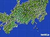 東海地方のアメダス実況(風向・風速)(2021年03月04日)