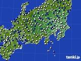 関東・甲信地方のアメダス実況(風向・風速)(2021年03月06日)