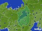2021年03月06日の滋賀県のアメダス(風向・風速)