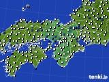 2021年03月08日の近畿地方のアメダス(風向・風速)