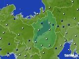 2021年03月08日の滋賀県のアメダス(風向・風速)