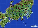 2021年03月09日の関東・甲信地方のアメダス(日照時間)