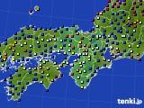 2021年03月09日の近畿地方のアメダス(日照時間)