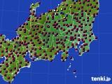 2021年03月10日の関東・甲信地方のアメダス(日照時間)