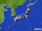 2021年03月10日のアメダス(風向・風速)