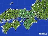 2021年03月11日の近畿地方のアメダス(風向・風速)