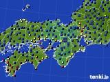 2021年03月13日の近畿地方のアメダス(日照時間)