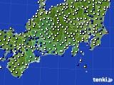東海地方のアメダス実況(風向・風速)(2021年03月13日)