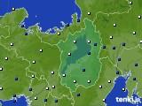 2021年03月13日の滋賀県のアメダス(風向・風速)