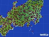 関東・甲信地方のアメダス実況(日照時間)(2021年03月14日)
