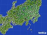 関東・甲信地方のアメダス実況(気温)(2021年03月14日)