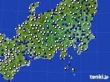 関東・甲信地方のアメダス実況(風向・風速)(2021年03月14日)
