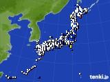 2021年03月14日のアメダス(風向・風速)