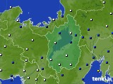 2021年03月14日の滋賀県のアメダス(風向・風速)