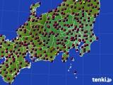 2021年03月15日の関東・甲信地方のアメダス(日照時間)