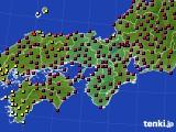 2021年03月15日の近畿地方のアメダス(日照時間)