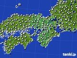 2021年03月15日の近畿地方のアメダス(風向・風速)