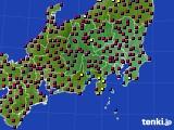 2021年03月18日の関東・甲信地方のアメダス(日照時間)