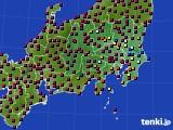 2021年03月19日の関東・甲信地方のアメダス(日照時間)