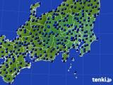 2021年03月21日の関東・甲信地方のアメダス(日照時間)