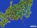 2021年03月22日の関東・甲信地方のアメダス(日照時間)