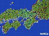 2021年03月22日の近畿地方のアメダス(日照時間)