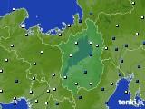 2021年03月22日の滋賀県のアメダス(風向・風速)