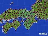 2021年03月23日の近畿地方のアメダス(日照時間)
