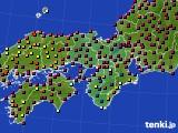 2021年03月24日の近畿地方のアメダス(日照時間)
