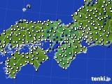 2021年03月24日の近畿地方のアメダス(風向・風速)