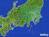 関東・甲信地方のアメダス実況(降水量)(2021年03月25日)