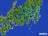 2021年03月25日の関東・甲信地方のアメダス(日照時間)
