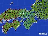 2021年03月25日の近畿地方のアメダス(日照時間)