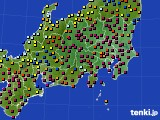 2021年03月27日の関東・甲信地方のアメダス(日照時間)