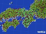 2021年03月27日の近畿地方のアメダス(日照時間)