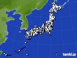 2021年03月27日のアメダス(風向・風速)