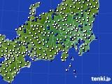 2021年03月28日の関東・甲信地方のアメダス(風向・風速)