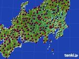 2021年03月29日の関東・甲信地方のアメダス(日照時間)