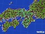 2021年03月29日の近畿地方のアメダス(日照時間)